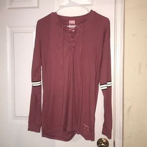 PINK vs long sleeved shirt
